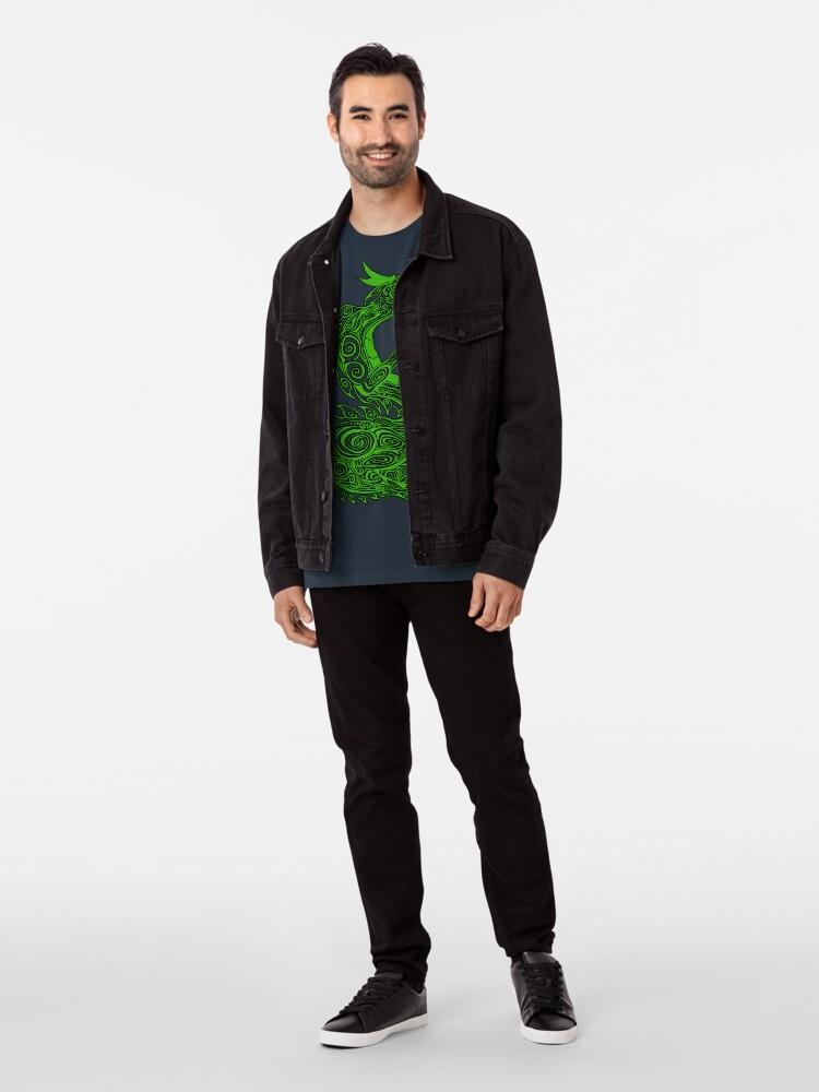 Alternative Ansicht von Grüner Drache Premium T-Shirt