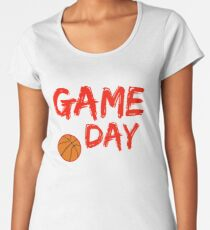 Game Day Basketball Red Women's Premium T-Shirt