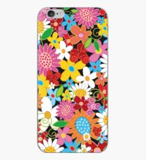 Whimsical Spring Flowers Power Garden iPhone Case
