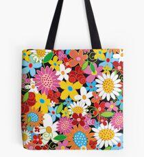 Whimsical Spring Flowers Power Garden Tote Bag