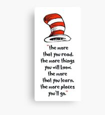 Rd Seuss day Canvas Print