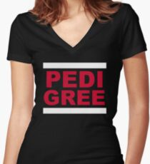 RUN Pedigree Women's Fitted V-Neck T-Shirt
