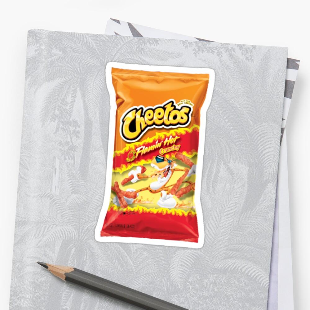Flamin 'heiße Crunchy Cheetos Sticker