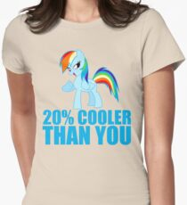 Rainbow Dash: 20% Cooler Than You Womens Fitted T-Shirt