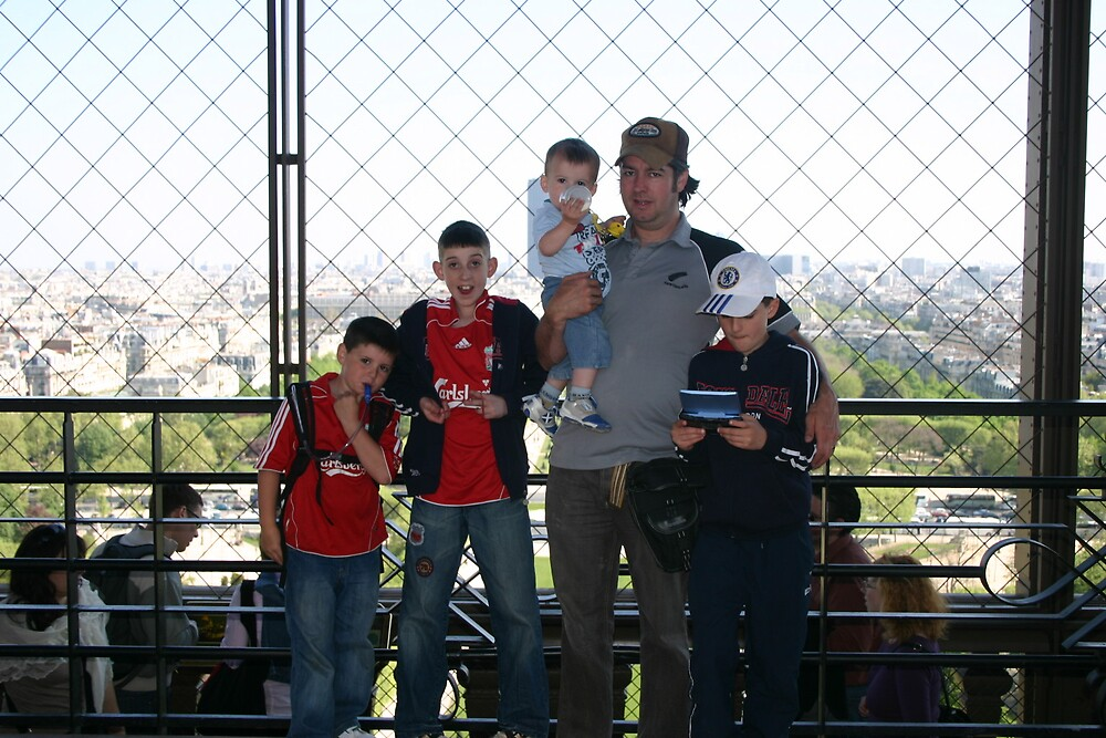 On the Effiel Tower Paris by janpaddy