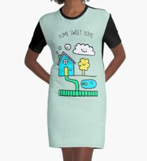 Home Sweet Home Graphic T-Shirt Dress