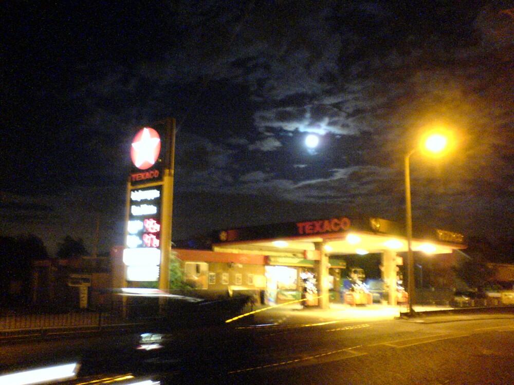 Garage at night by Diane Ball