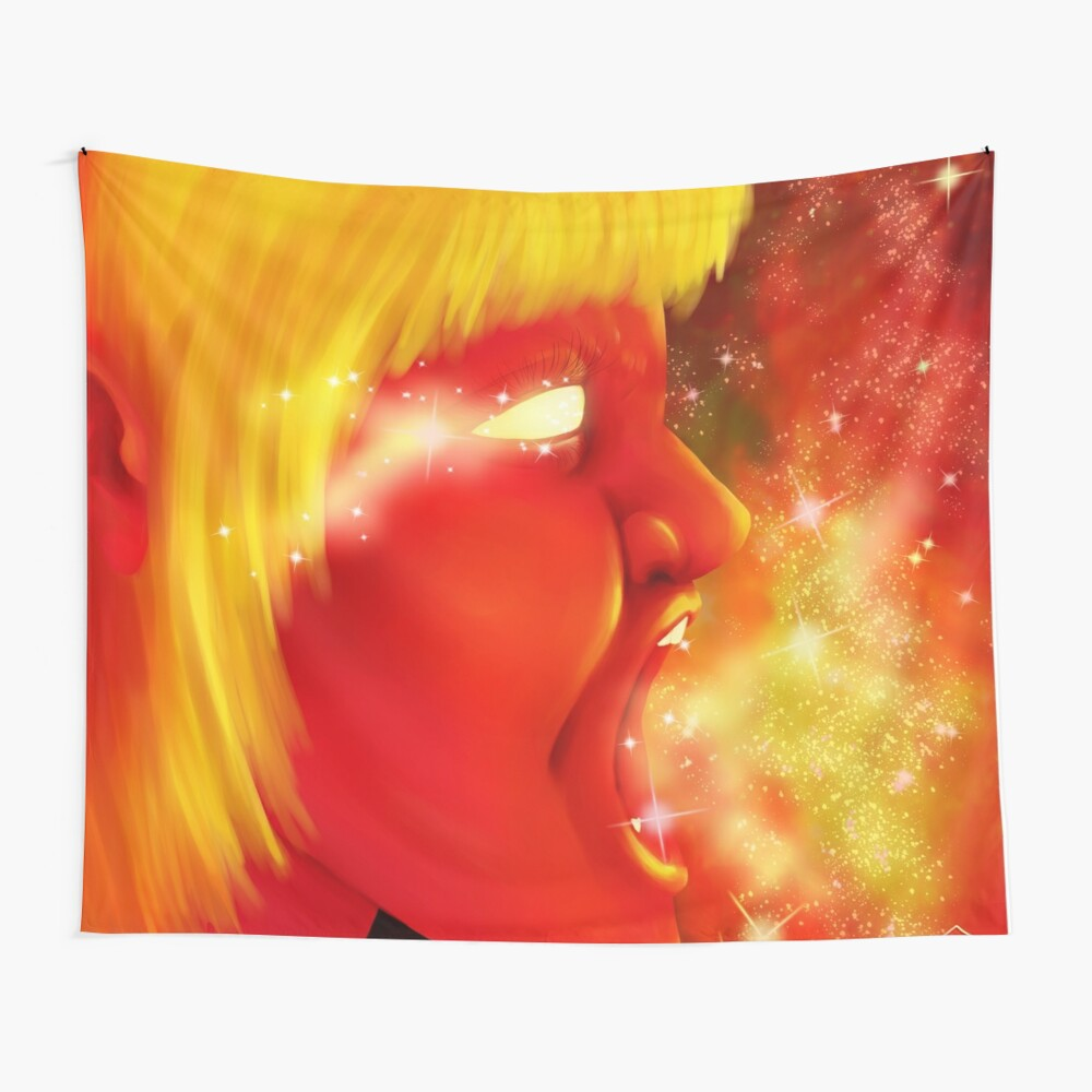 Screaming at the Stars Wall Tapestry