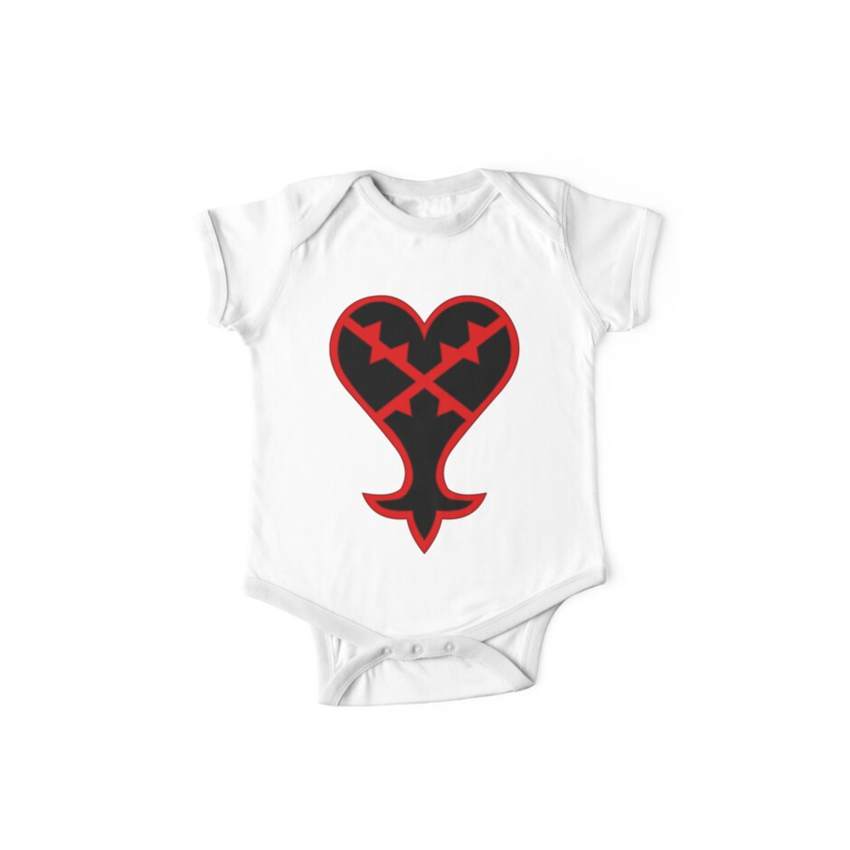 Kingdom Hearts Heartless Symbol One Piece Short Sleeve By Alexiv