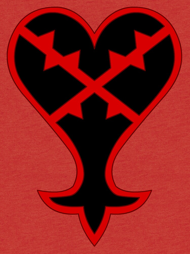 Kingdom Hearts Heartless Symbol Tri Blend T Shirt By Alexiv Redbubble