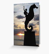 Seahorse Statue - Puerto Vallarta Greeting Card