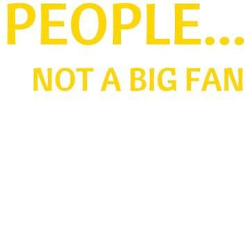 People... Not a Big Fan Introverts T-Shirt by AlienFrogTees