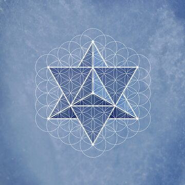 Merkaba & Flower of life on angelite by RedCloudDesign