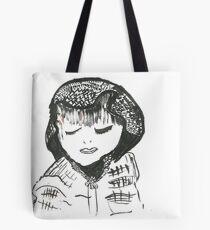 Schüchternes Mädchen Tote Bag