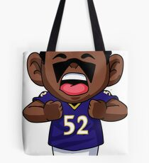 Ray Lewis Cartoon Tote Bag