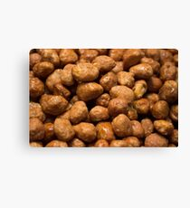 Candy coated peanuts Canvas Print
