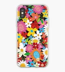 Whimsical Spring Flowers Power Garden II iPhone Case