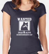 Wanted Cat Tailliertes Rundhals-Shirt