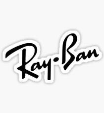 ray ban logo Sticker
