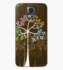 Colorful Four Seasons Trees Case/Skin for Samsung Galaxy