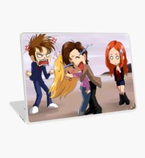 The Doctor meets Rose Laptop Skin