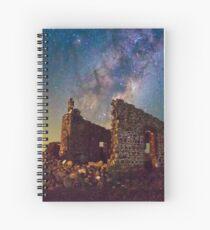 Crumbling Walls in Starlight Spiral Notebook