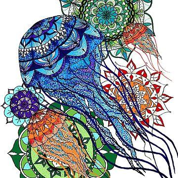 Trippy Little Jellyfish by CraftyRedFox