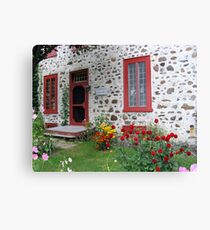The Stone House Quebec          Canvas Print