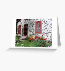 The Stone House Quebec          Greeting Card