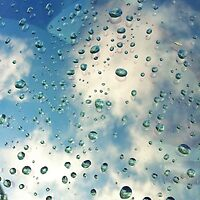 Raindrops with Reflection on my Windshield by lindsycarranza