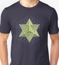Merkaba & Flower of Life on prehnite Unisex T-Shirt