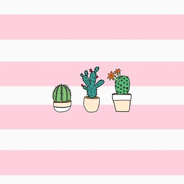 Pink Strapped Cactus  by aeshaax