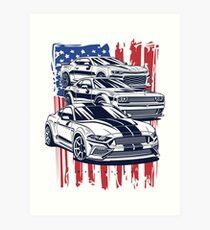 American Crew. Mustang, Camaro, Challenger Art Print