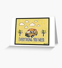 Everything you need RV Greeting Card
