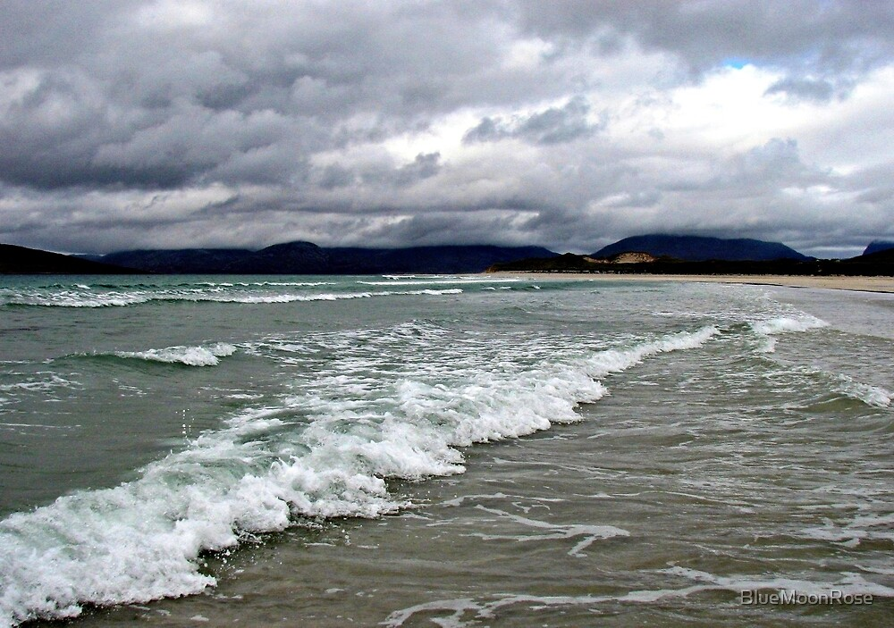 Rain Clouds and Ocean Waves - Isle of Harris by BlueMoonRose
