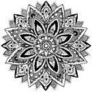 Hand drawn mandala art by tekslusdesign