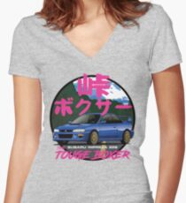 Subaru Impreza 22B Women's Fitted V-Neck T-Shirt