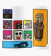Minecraft Peaceful Mobs Poster