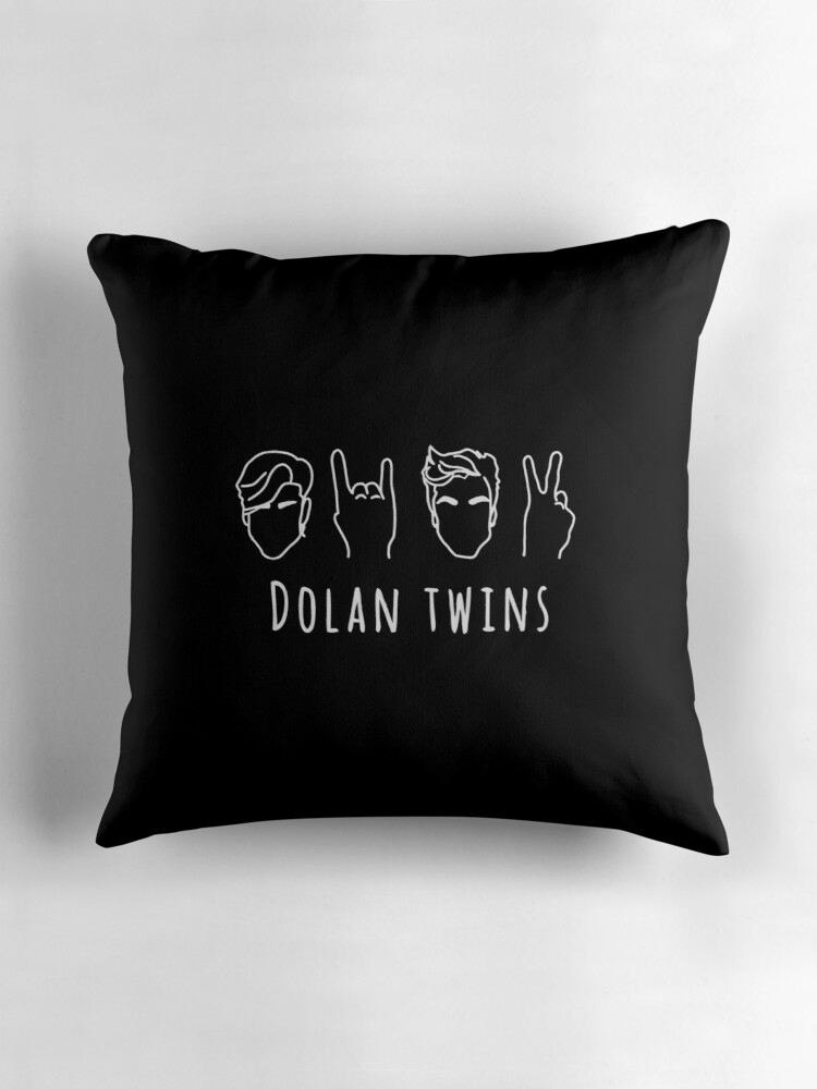 Quot Dolan Twins Outline White Quot Throw Pillows By Patata Wawa