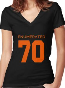 Rep Your Census Year - 70s Generation Women's Fitted V-Neck T-Shirt
