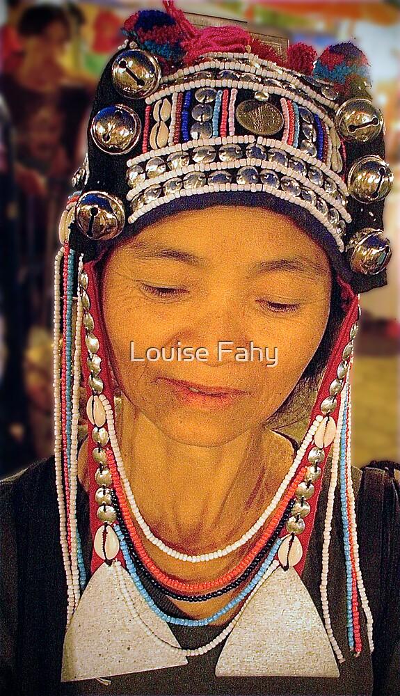 Bead seller, Chiang Mai Thailand by Louise Fahy