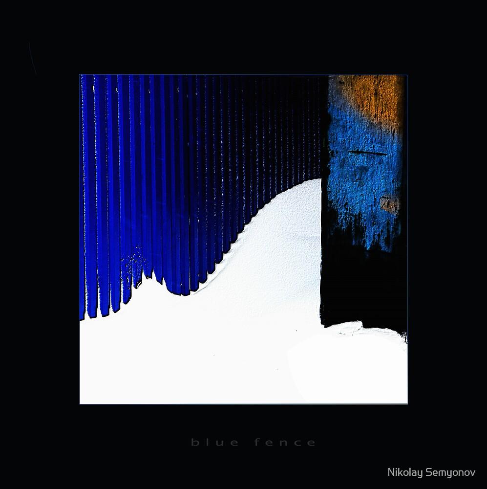 blue fence by Nikolay Semyonov