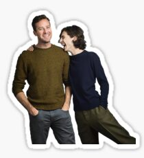 timothee chalamet and armie hammer  Sticker