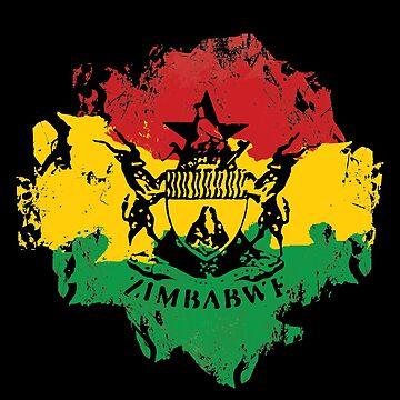 zimbabwe von Periartwork