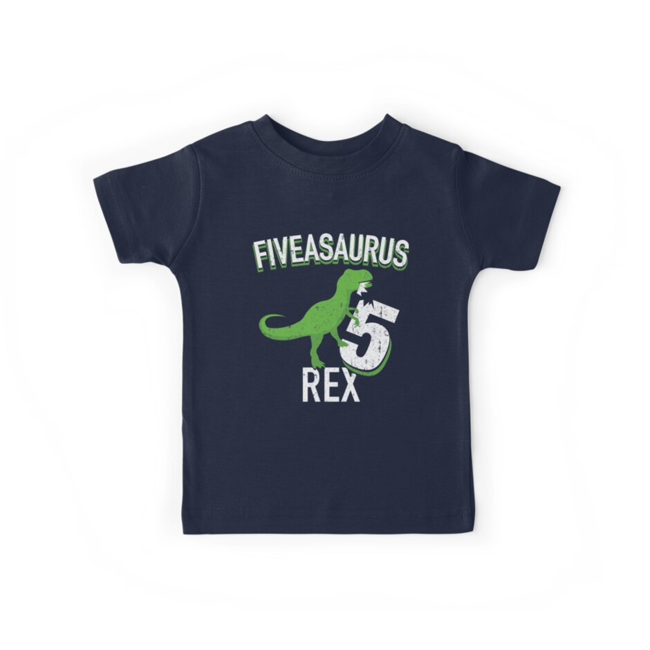 5th Birthday Shirt Boy Dinosaur