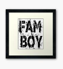 FAM BOY Framed Print