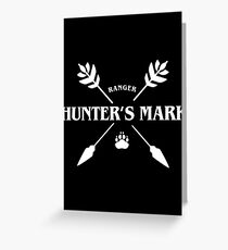 Ranger Hunter's Mark Slaying Dragons in Dungeons DnD Greeting Card