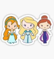 Thumbelina, Odette, and Anastasia - Lil' CutiEs Sticker
