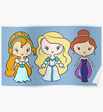 Thumbelina, Odette, and Anastasia - Lil' CutiEs Poster