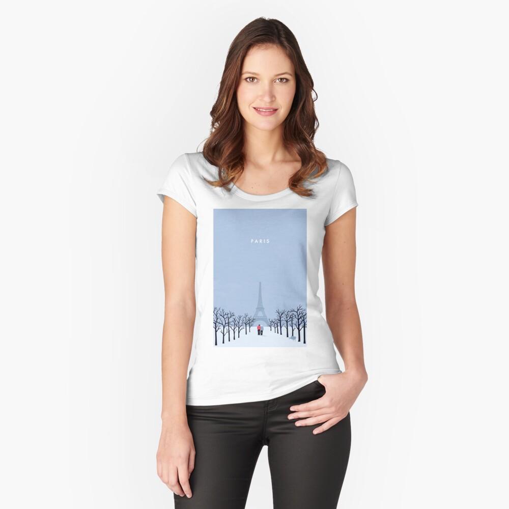 Paris Tailliertes Rundhals-Shirt